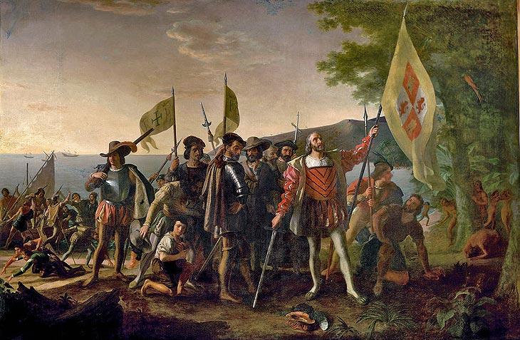 Llegada de Cristóbal Colón a las Indias Occidentales